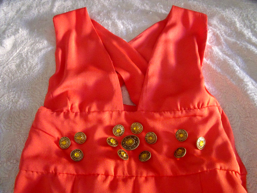 DIY Fausto Puglisi inspired dress detail