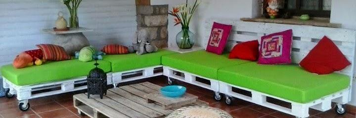 Decora hogar 28 fotos de decoraci n ecol gica con muebles for Muebles de jardin con palet