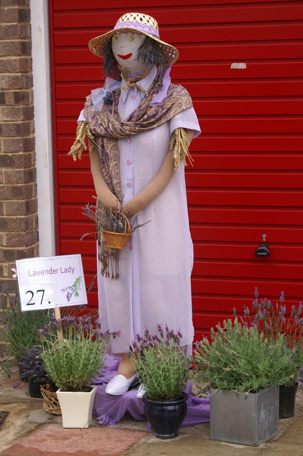 Sitting Garden Lady Scarecrow 68