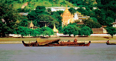 Irrawaddy River cruises at Mandalay