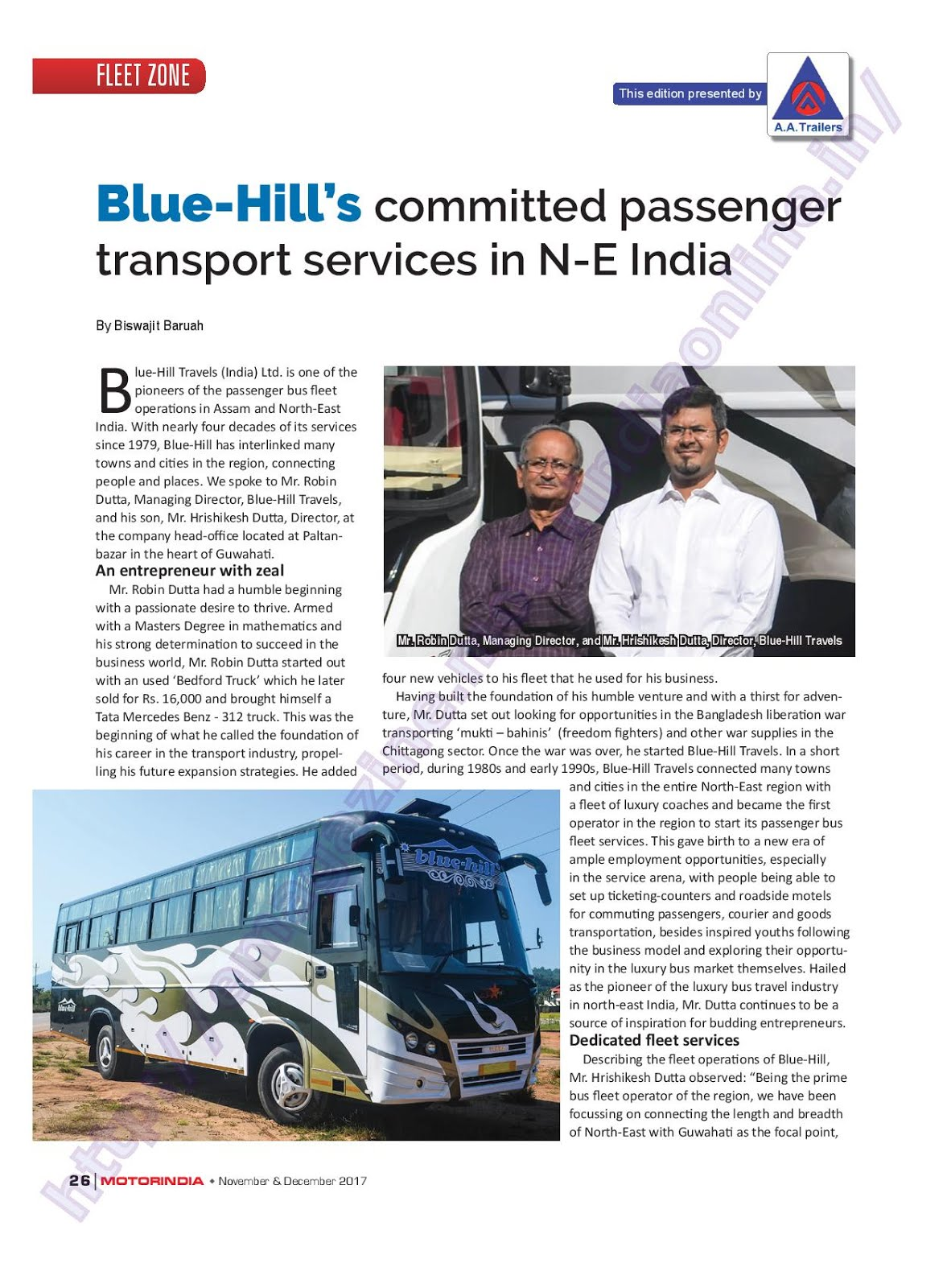 MOTOR INDIA ARTICLE 23 : BLUE HILL TRAVELS ASSAM