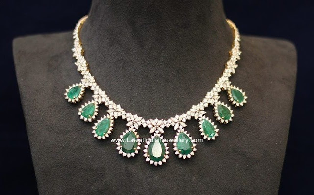 Classy Diamond Necklace with Price
