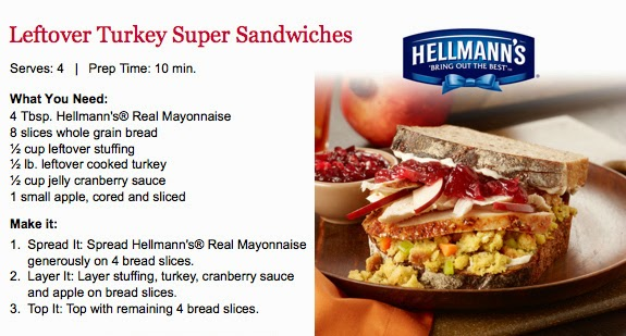 Leftover Turkey Super Sandwiches from BJ's Cooking Club