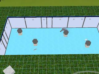 Piscina Pecera Los Sims 3