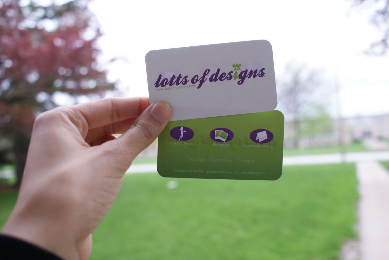 Lotts of designs: Lott of Designs business cards are here!!