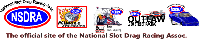 NSDRA - SLOT CAR DRAG RACING AND SOURCE OF INFORMATION