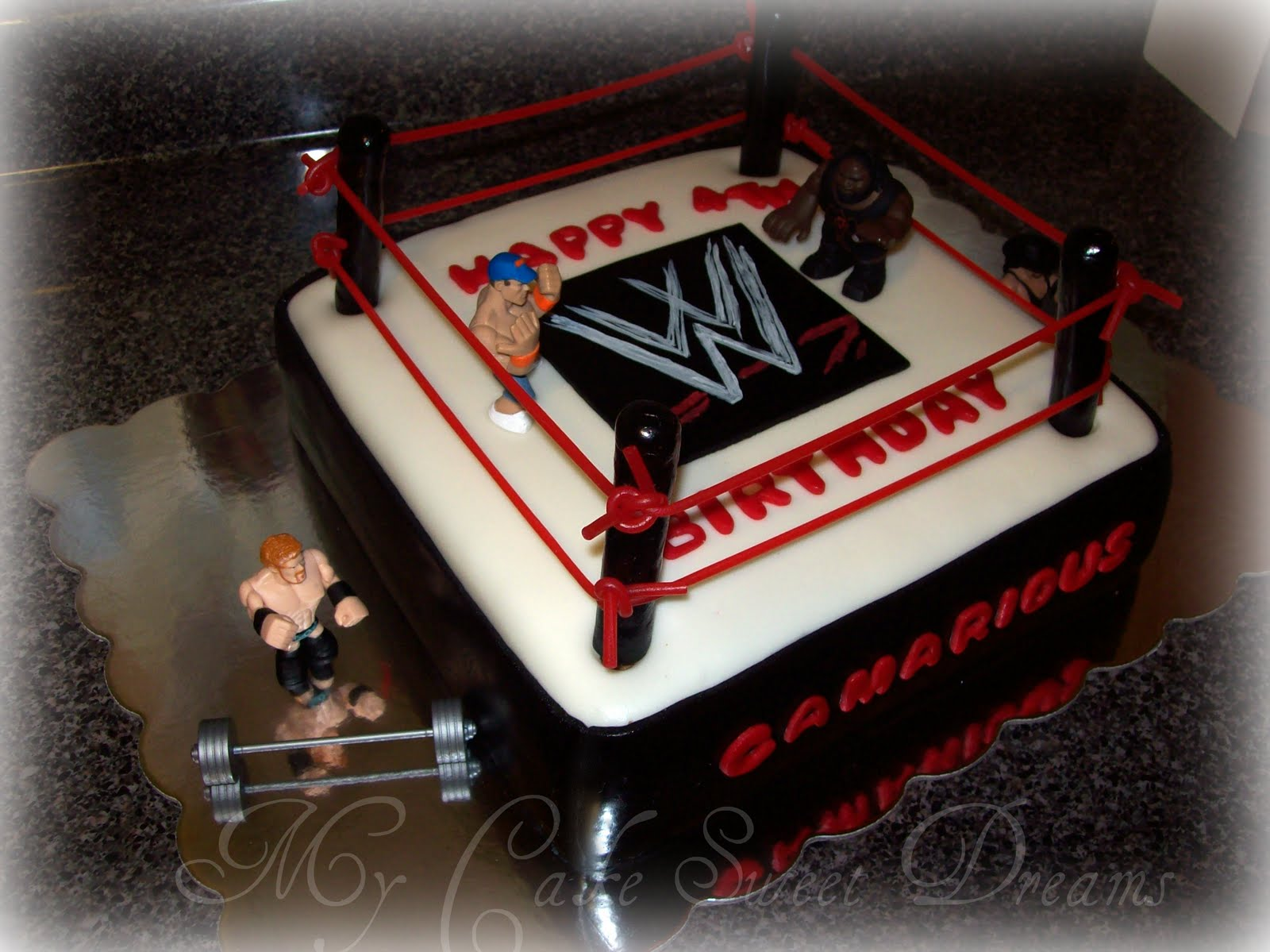 WWE Wrestling Cake Ideas