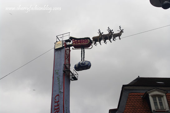 Santa's sledge in Saarbrucken