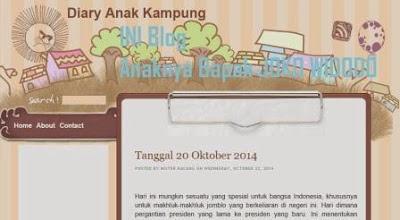 Gambar tampilan blog anak bapak jokowi