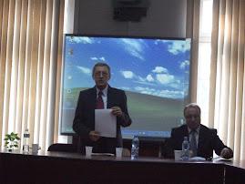 Zilele UAIC - aspect din timpul comunicării Prof. univ. dr. Ştefan S. Gorovei, 26.10.2012...