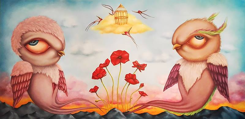 """Garden of red poppies"", 2015"
