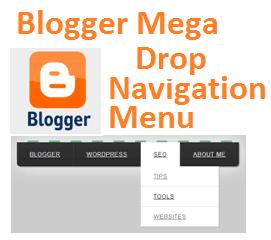 Blogger Mega Drop Navigation Menü