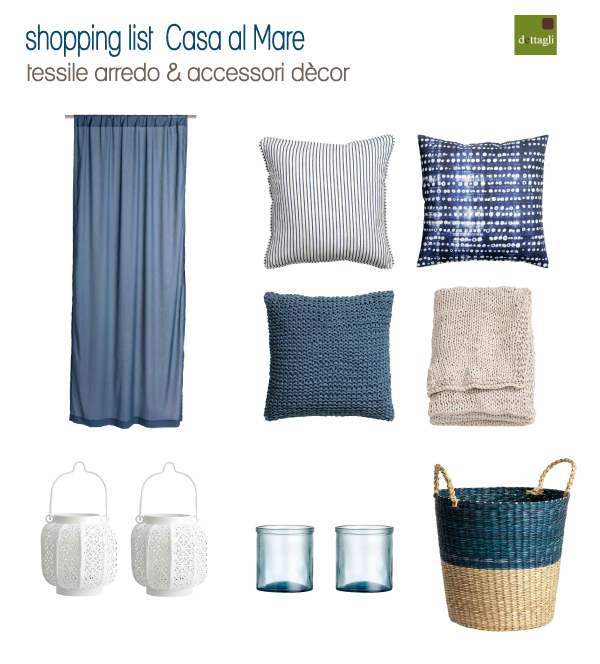 Shopping list per la casa al mare blog di arredamento e for Accessori per arredare casa