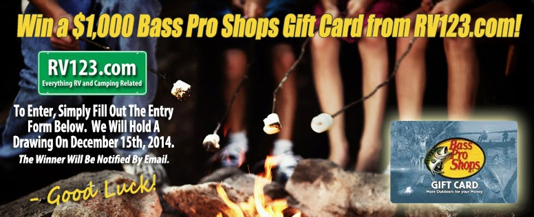 Enter to win a $1,000 Bass Pro Shop gift card. Ends 12/15/14
