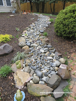 Dry River Bed Backyard Landscape