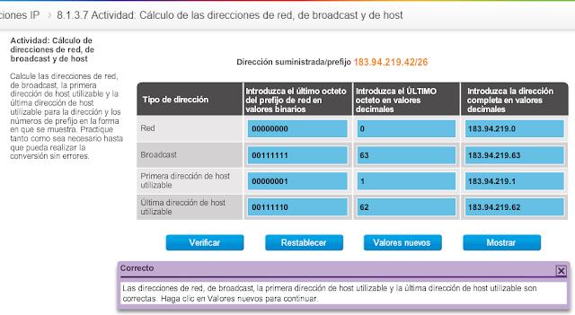 Ccna cisco c lculo de las direcciones de red de for Calculadora de redes