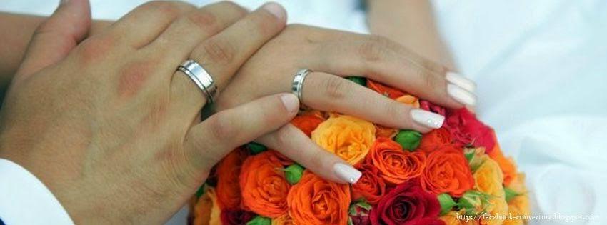 Couverture facebook couple marié