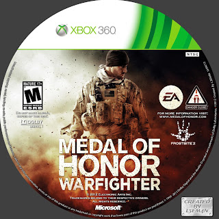 Label Medal Of Honor Warfighter Xbox 360