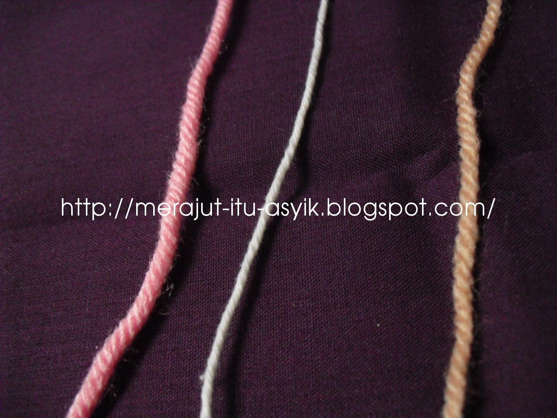adalah benang minilon, tengah katun, kiri benang wol buatan Jerman