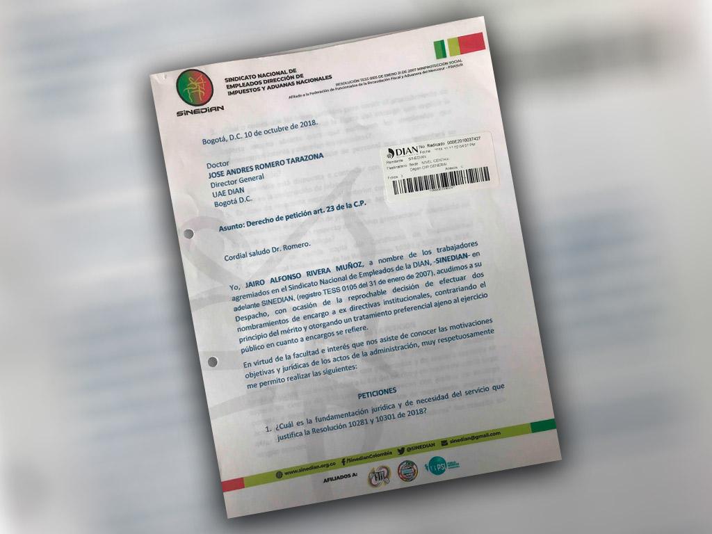 Derecho de petición art. 23 de la C.P.