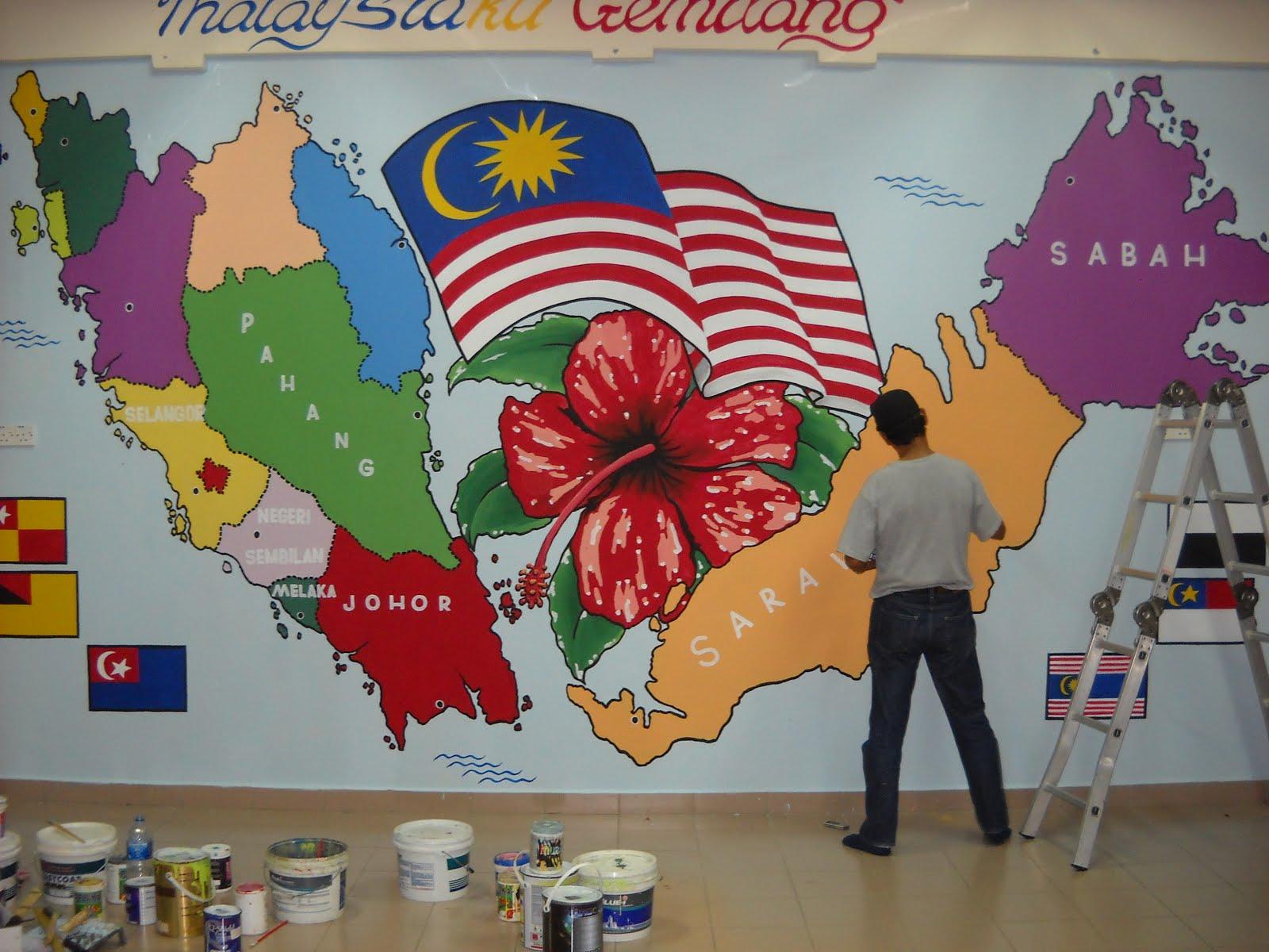 Pelukis mural shah alam peta semenanjung malaysia for Mural sekolah rendah