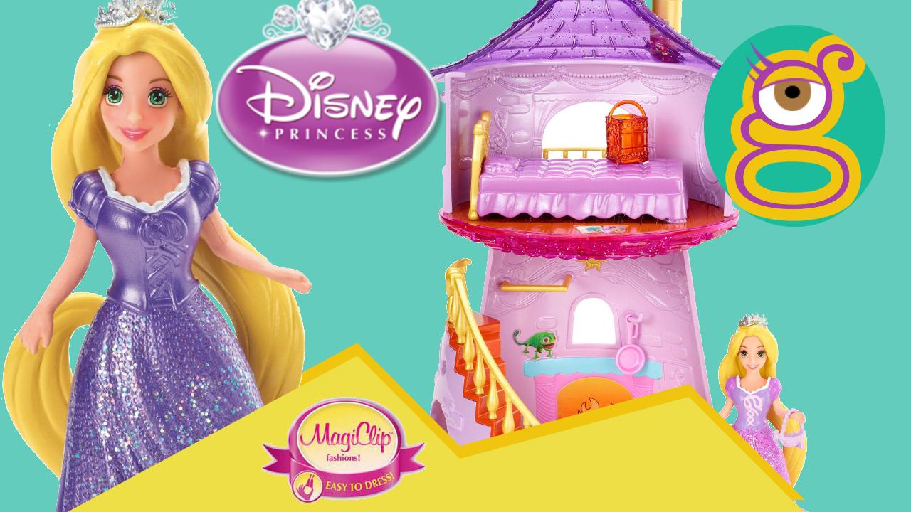 Castillo torre Rapunzel Princesas Disney Magiclip castle tower princess magic clip Cenicienta Anna en tremending girls
