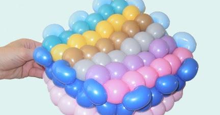 how to make a balloon cake