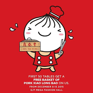 SM Megamall, Din Tai Fung, Basket of Pork Xiao Long Bao, Philippine promo