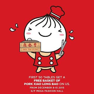 SM Megamall, Din Tai Fung, Basket of Pork Xiao Long Bao, Philippine promo