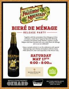 Biere+de+Menae+Release Biere de Menage Release Party- May 17th, 6-8 pm- Whole Foods Market Oxnard
