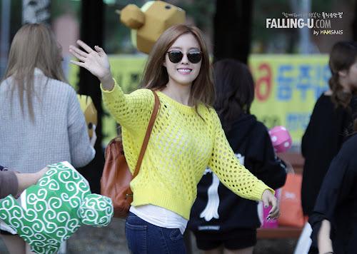 T-ara Hyomin di Inkigayo Mini Fan Meeting