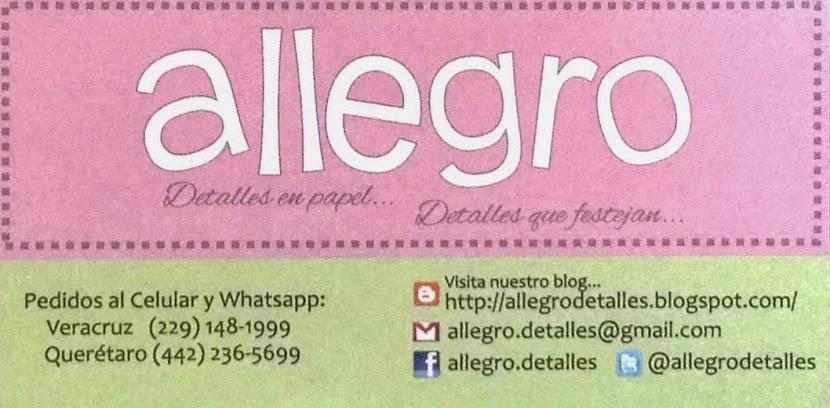 Allegro....detalles que festejan