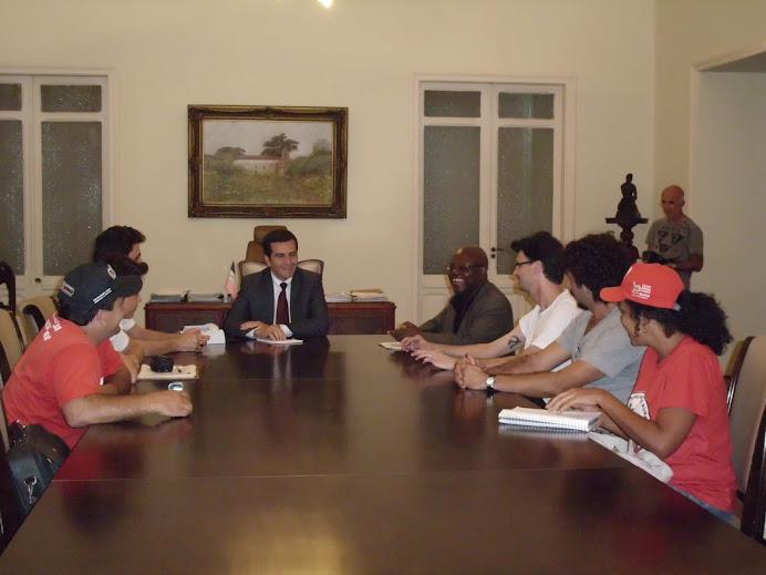 Comissão conversa com Vice-Governador e entrega Carta