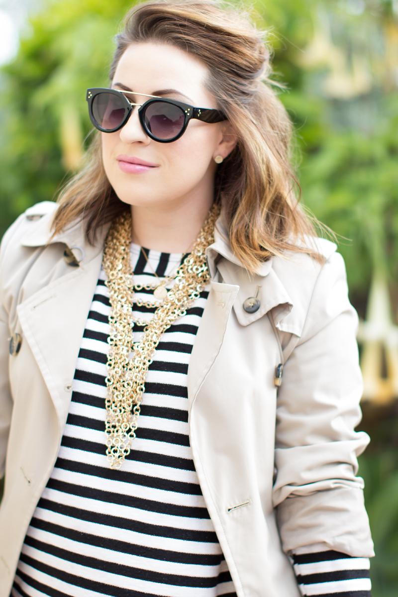 black and gold browbar sunglasses