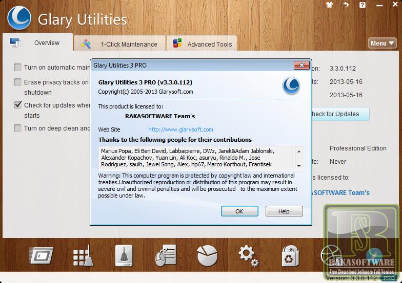 Glary utilities pro 3.3.0.112 incl serial