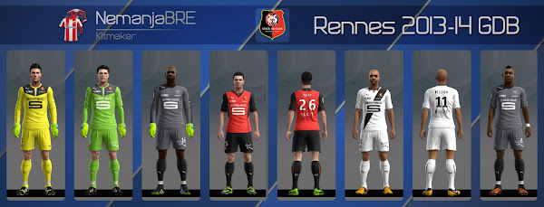 PES 2013 Rennes 2013/14 Kits by Nemanja