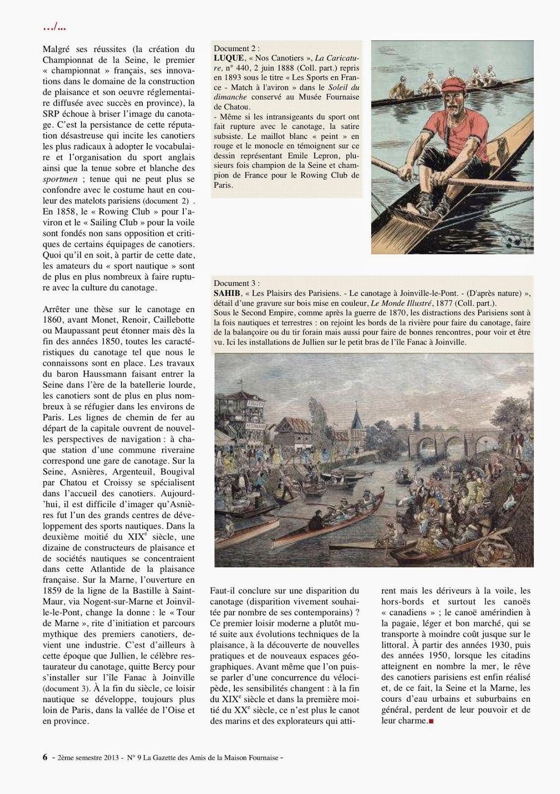 génèse du canotage par Frédéric Delaive