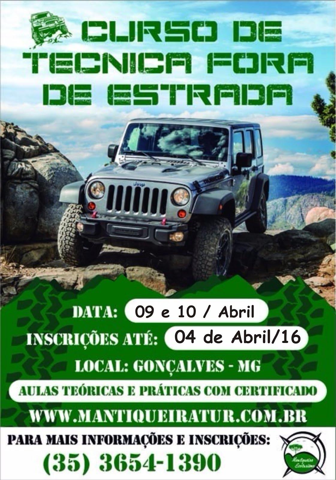 Curso Técnica Fora de Estrada em Abril