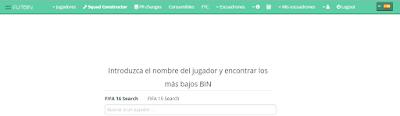 Futbin, web para ver el precio de un equipo en FIFA 16 Ultimate Team
