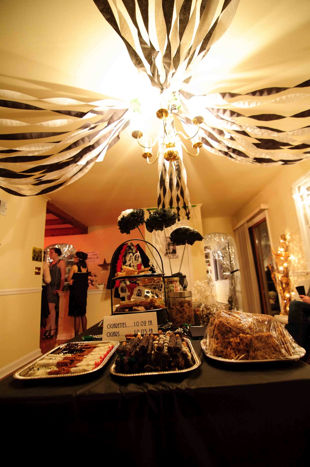 Invite the unexpected roaring 20 39 s for 1920 s party decoration ideas