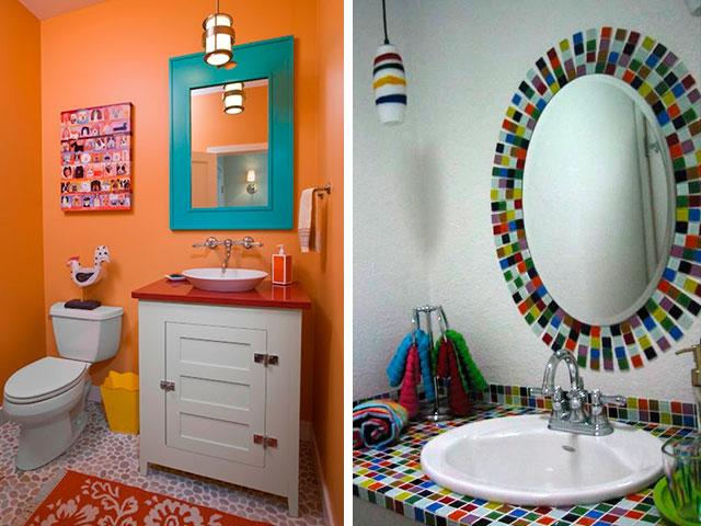 espelhos coloridos