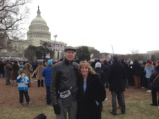 Mike and Gena in front of the capital