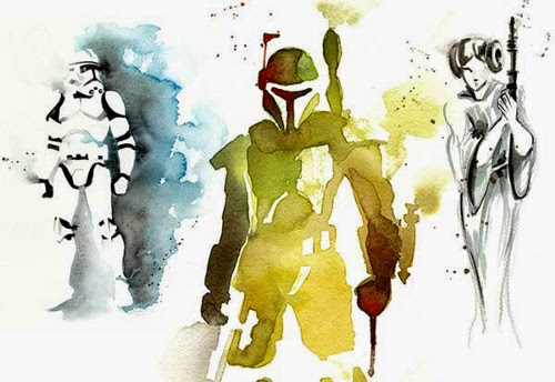 00-Clémentine-Campardou-Blule-Star-Wars-IV-V-VI-Watercolors-www-designstack-co