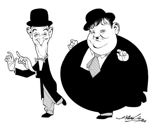 Dibujos animados de un niño gordo y un niño flaco - Imagui