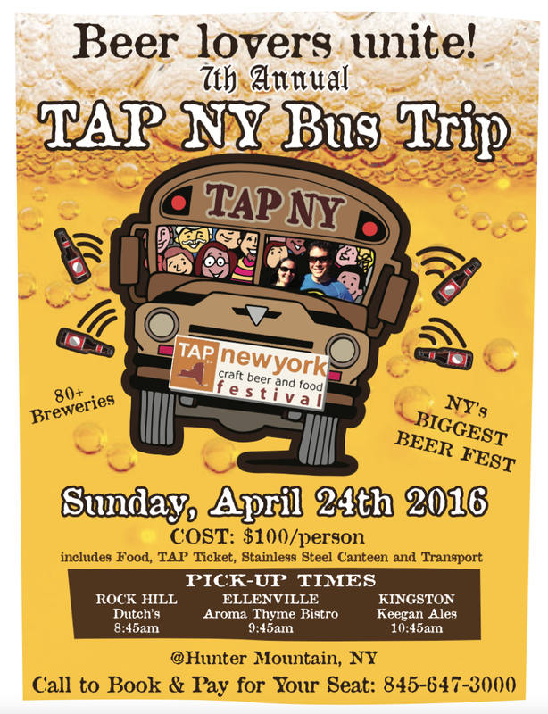 TAP NY Craft Beer Festival Bus Trip
