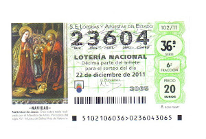 LOTERIA DE NAVIDAD-2011. Pueden retirar dcimos en en el CAFE BAR ALSUR, ENTIDAD COLABORADORA .