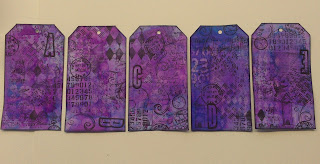 inked and stamped tags
