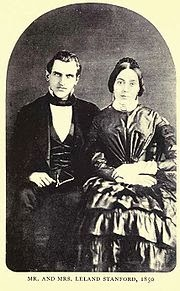 Mr. and Mrs. Leland Stanford