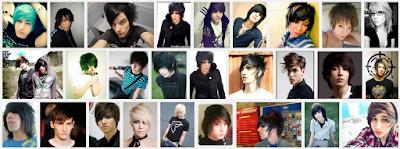 model gaya rambut emo pendek dan panjang pria dan wanita 20