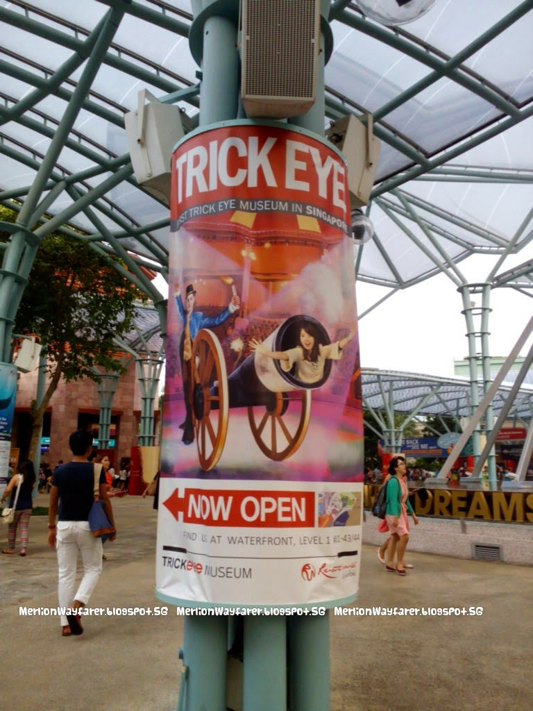 Trick Eye Museum Singapore Be A Part Of The Picture Merlion Tiket Trickeye Fun Easy To Climb Exhibits At Entrance